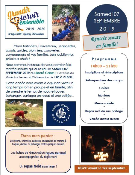 2019 SCOUTS AFFICHE RENTREE
